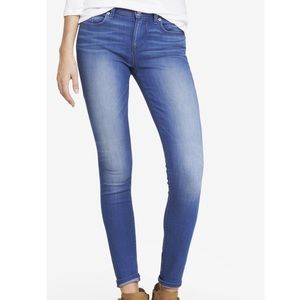EXPRESS blue wash mid rise  jean leggings